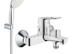 Pachet: Baterie baie cada Grohe Bauloop-23341000+Set dus Grohe New Tempesta 100 lungime 1,25m-277990